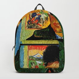 Van Gogh, Self-Portrait with Bandaged Ear and Pipe  – Van Gogh,Vincent Van Gogh,impressionist,post-i Backpack