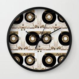 Retro classic vintage transparent mix cassette tape Wall Clock