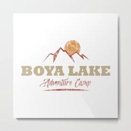 Boya Lake Camping  TShirt Adventure Camp Shirt Camper Gift Idea Metal Print
