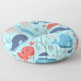Nautical Creatures Floor Pillow