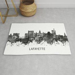 Lafayette Louisiana Skyline BW Rug