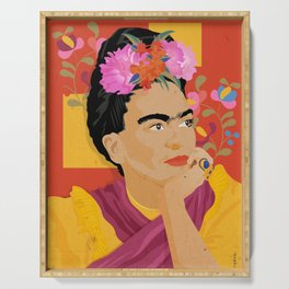Frida - a colorful mind Serving Tray