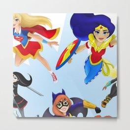DC Society6 Super Hero Girls - Trending Kids - Room Decorations - Children's Art - Fun Stuff Metal Print