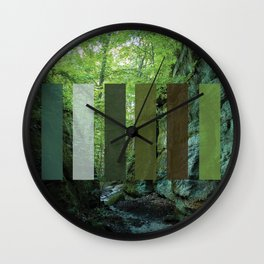 Nelson Ledges Color Wall Clock