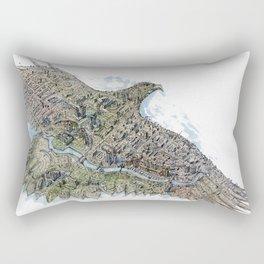 Gold eagle and Astana Rectangular Pillow