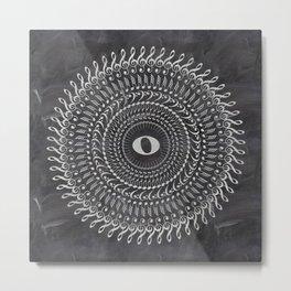 Music note mandala 2 (chalk) Metal Print