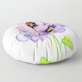 Pretty Pansies Floor Pillow