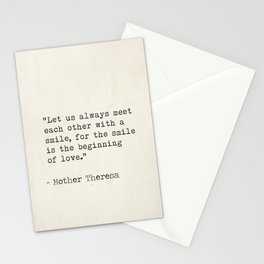 Mother Theresa quote Stationery Cards