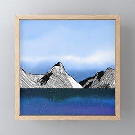 Mitre Peak Framed Mini Art Print