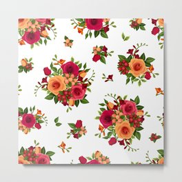 Flowers seamless patterns 23 Metal Print