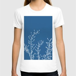 Elegant Floral on Classic Blue, Color of the Year 2020 T-shirt