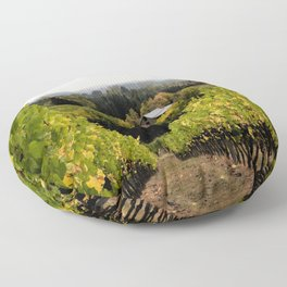 Vineyard on the Hill Floor Pillow