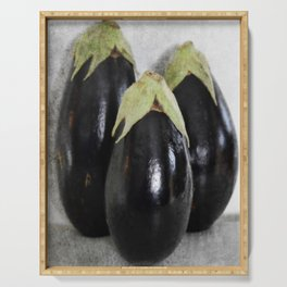 Three Eggplants | The Good, The Bad, & The Ugly | True story! Serving Tray