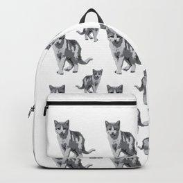 Grey room tiger Backpack