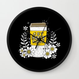 Drink Coffee, Get Shit Done Wall Clock
