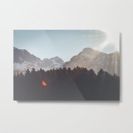 Forest&Mountains&Sky Metal Print