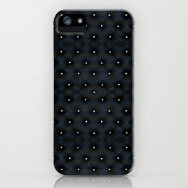 Black Velvet and Diamond Quilted Pattern iPhone Case