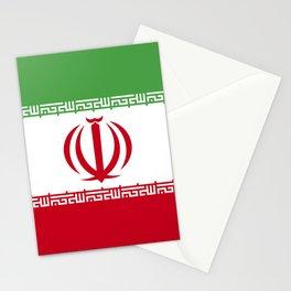 Iran flag emblem Stationery Cards