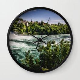 Rhein Falls 4k summer river Schaffhausen swiss nature Switzerland Europe beautiful nature Wall Clock