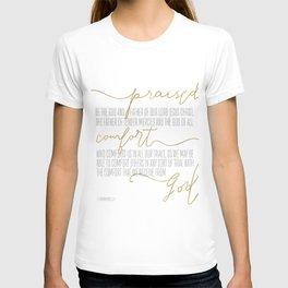 2 Corinthians 1:3,4 - Goldie T-shirt