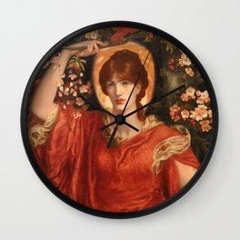 A Vision of Fiammetta, Dante Gabriel Rossetti Wall Clock