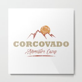 Corcovado Camping  TShirt Adventure Camp Shirt Camper Gift Idea Metal Print