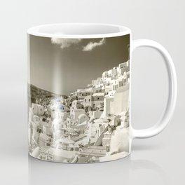 Santorini Seascape in sepia Coffee Mug