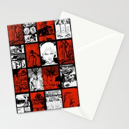 RED & WHITE - A nne Frankenstein Book I - Resurrection Stationery Cards