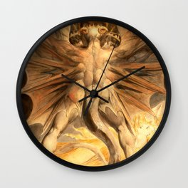 """William Blake """"The Great Red Dragon and the Woman Clothed in Sun"""" Wall Clock"""
