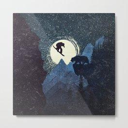 Bear Drop Metal Print
