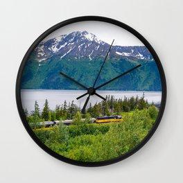Alaska Passenger Train - Bird Point Wall Clock