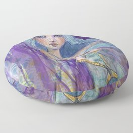 Plenty more Fish in the Sea by Jane Davenport Floor Pillow