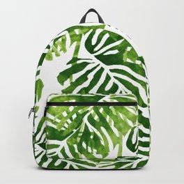 Tropical Leaves - Green Backpack