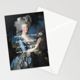 In Love with Being Queen of France Stationery Cards