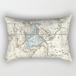 Constellations Ophiuchus and Serpents, Celestial Atlas Plate 9, Alexander Jamieson Rectangular Pillow