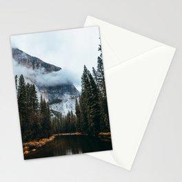 Misty Yosemite River Stationery Cards