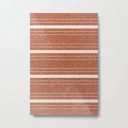 hanover woven stripes - ginger Metal Print