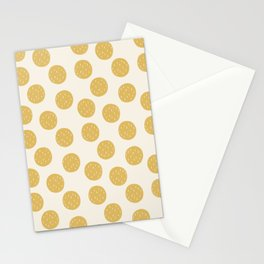 Yellow Organic Circles Stationery Cards