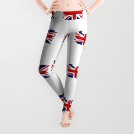 Union Jack British Flag With Grunge Leggings