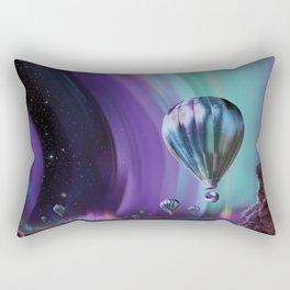 NASA Retro Space Travel Poster #7 Juniper Rectangular Pillow