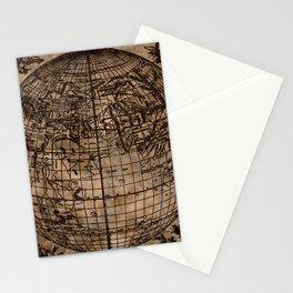 Vintage Old World Map Design Stationery Cards