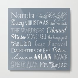 Narnia Celebration - gray Metal Print