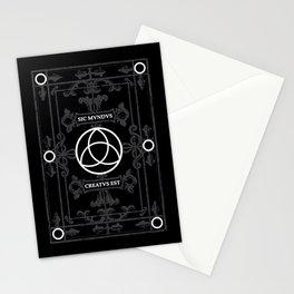 Dark Triquetra Symbol Stationery Cards