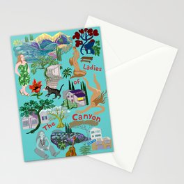 Ladies of the canyon, tribute to Joni Mitchell. Stationery Cards