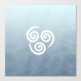Avatar Air Bending Element Symbol Canvas Print