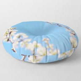 Blue Blossoms Floor Pillow