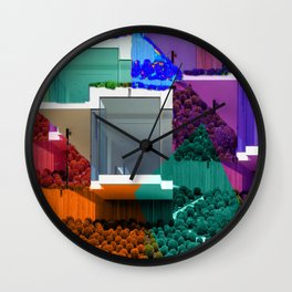 Real Estate Fantasy Wall Clock