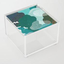 M+M Emerald Forest Bird's Eye View by Friztin Acrylic Box