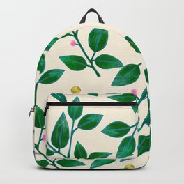 Rubber Plant Pattern Backpack