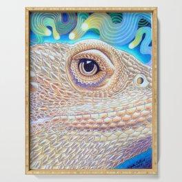 Dragon Star, Bearded Dragon Lizard Art Serving Tray